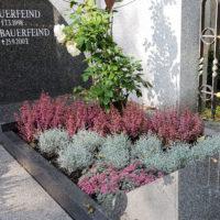 Grabbepflanzung Sommer Herbst Beispiel Grabgestaltung Platten Gemeinschaftgrab für Familien Bauerfeind Zeulenroda