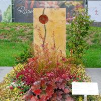 Schöne besondere Moderne dauerhafte Einzelgrab Gestaltung Bepflanzung Ideen Grab bepflanzen Bodendecker Stauden Fotos Ideen Landesgartenschau Apolda