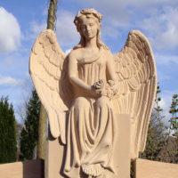 Engel Grabsteine Grabmale Bildhauer Steinmetz Doppelgräber Familiengräber Steinmetz Friedhof Willich