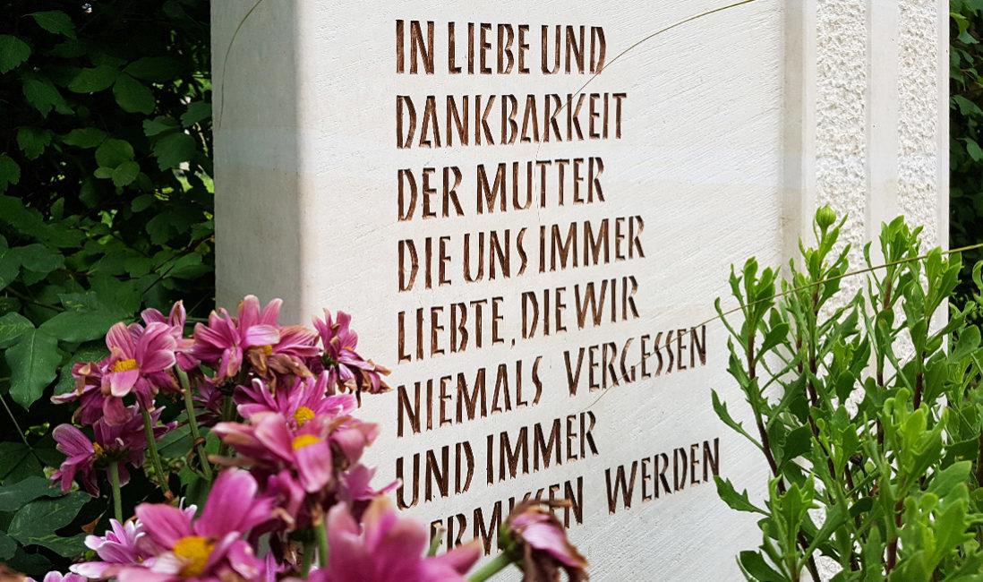 Grabstein Kalkstein Grabinschrift Grabspruch