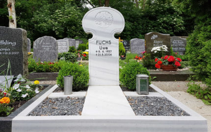Erfurt Hauptfriedhof Grabstein Fuchs