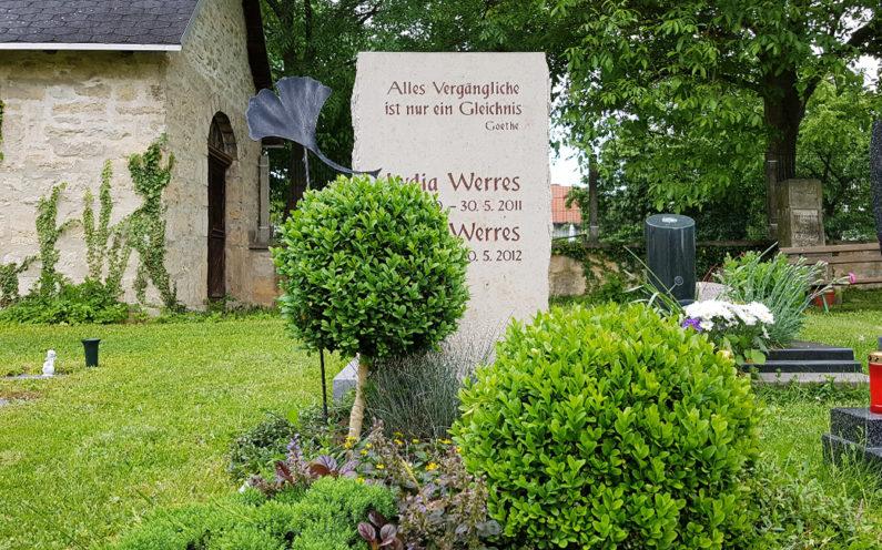 Elleben-Riechheim Evangelischer Friedhof St. Gallus Grabstein Werres