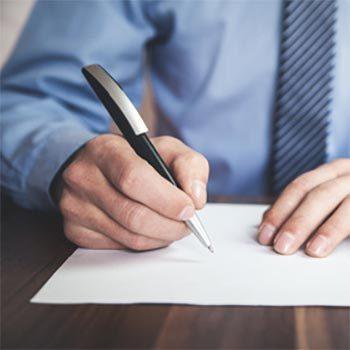 Eine Grafik zu Kugelschreiber - der Standard zum Verfassen der Beileidskarte