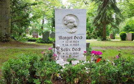 Erfurt Hauptfriedhof Grabstein Beck