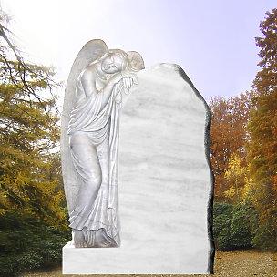 Eine Grafik zu Rasengrabsteine mit Engel Motiven