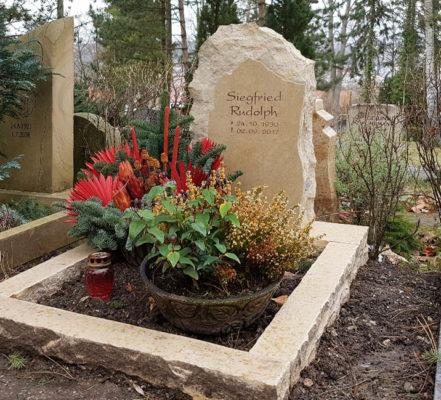 Relativ 🥇 Grabsteine & Grabplatten für Urnengrab (kleine/große PX56