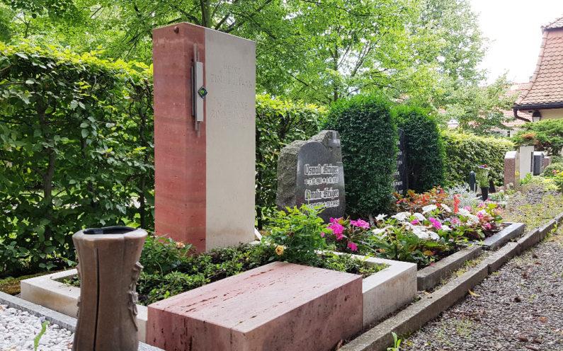 Weida Friedhof Grabmal Zimmermann - 1