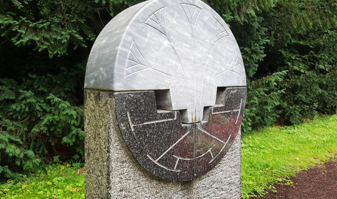 Grabstein Säule Steinmetz Idee Granit Rund Bogen Südfriedhof Köln