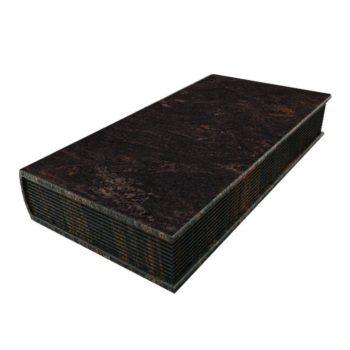 Eine Grafik zu Geschlossenes Grabstein Buch für ein Urnengrab