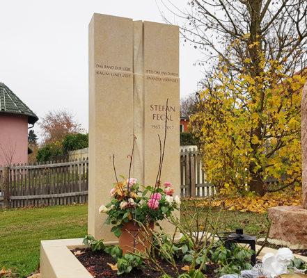 Glashütten Friedhof Oberems Einzelgrabmal Feckl