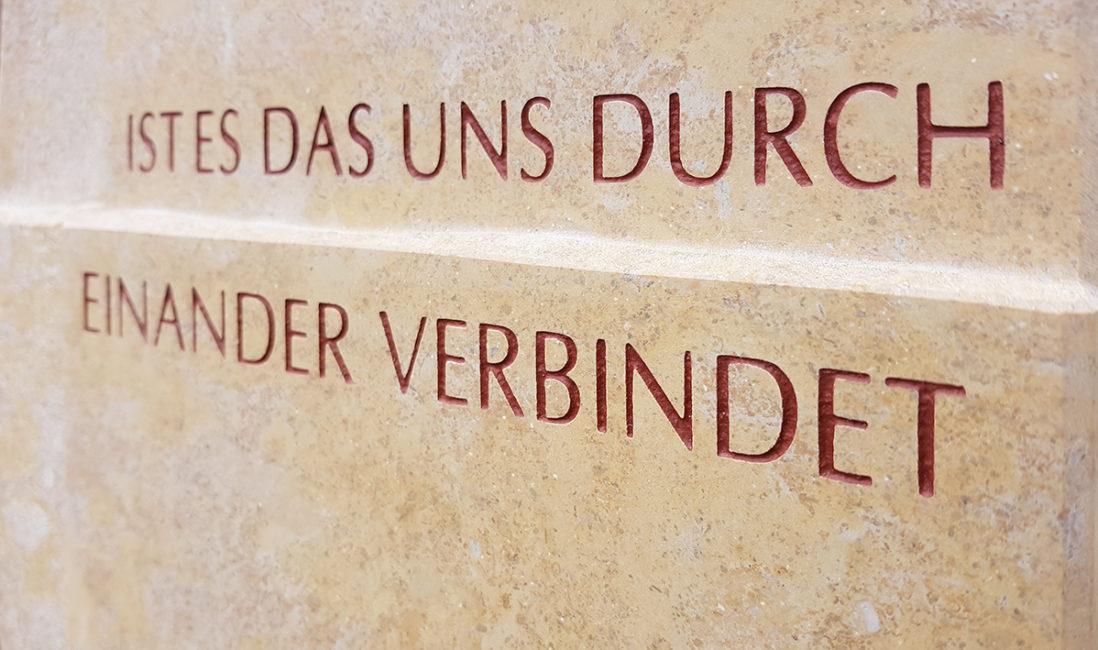 Grabstein Grabspruch Inschrift Kalkstein Idee Beispiel Steinmetz Frankfurt
