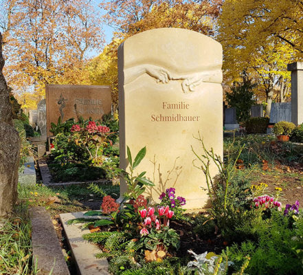 Fürth Hauptfriedhof Doppelgrabstein Schmidbauer