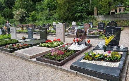 Titelbild Grabstein mit Einfassung