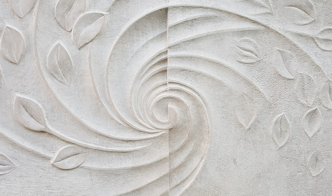 Grabmal Familiengrab Bildhauer klassisch Kalkstein Spirale Hoffnung Glaube Gestaltung Idee Detail Friedhofsverwaltung Vaterstetten München