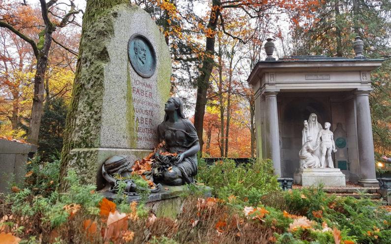 Wiesbaden Nordfriedhof historische Grabanlage Faber - 2