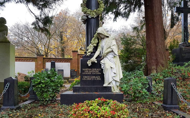 Wiesbaden Nordfriedhof historisches Grabmal Gerlach - 2