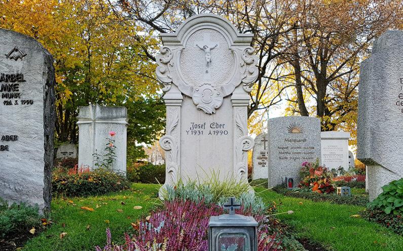 Vaterstetten Friedhof Einzelgrabstein Eder - 1