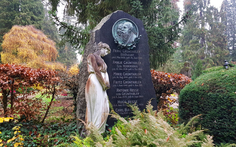 Wiesbaden Nordfriedhof historische Familiengrabstätte Franz Grünthaler - 2