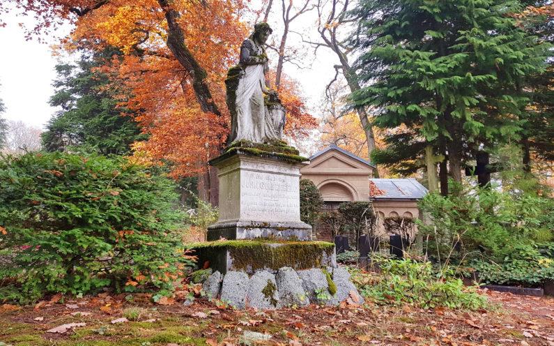 Wiesbaden Nordfriedhof historischer Einzelgrabstein John Goldenberg - 2