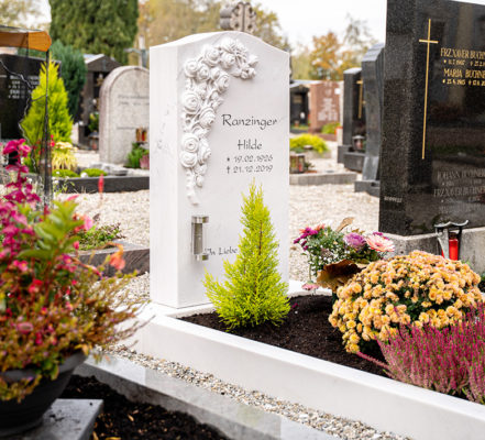 Rosenheim Friedhof Einzelgrabstätte Ranzinger