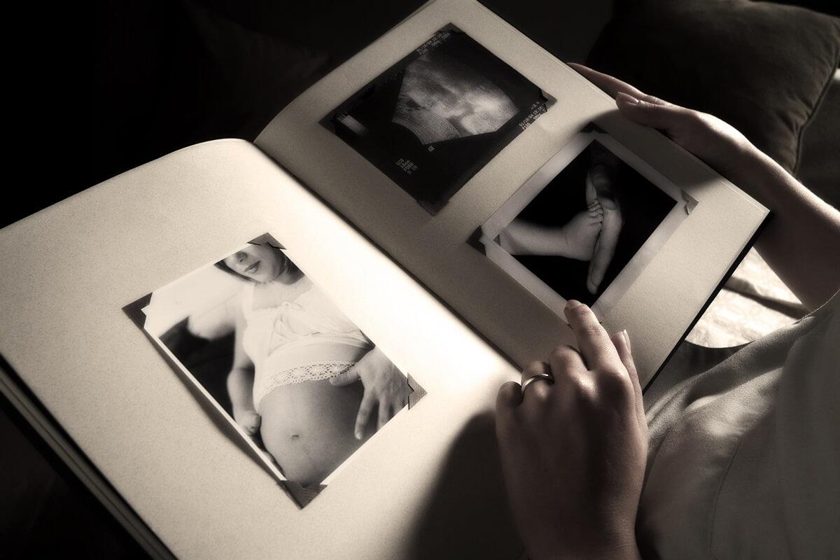 Fotoalbum zur Erinnerung an ein Sternenkind