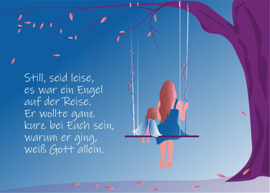 Schöne Sternenkinder Sprüche zum Versenden - Sternenkinder Trauerkarten für WhatsApp, Facebook & Co mit Zitaten & Gedichten
