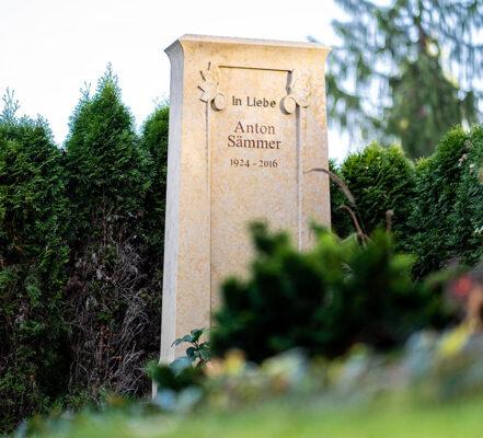 Gräfelfing Gemeindefriedhof Doppelgrabstein Sämmer