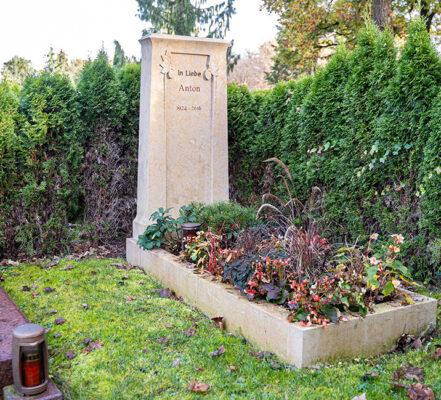 München Friedhof Doppelgrabstein Modell Chopin