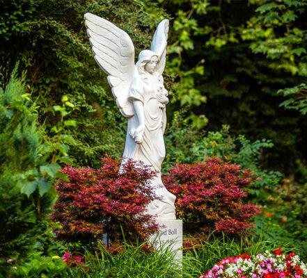 Heidelberg Bergfriedhof Familiengrab mit Marmorengel Familie Boll