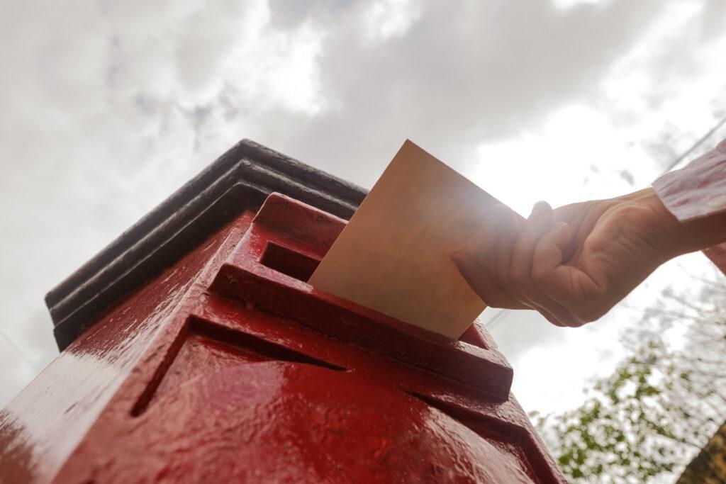 Postalische Versendung einer Kondolenzkarte